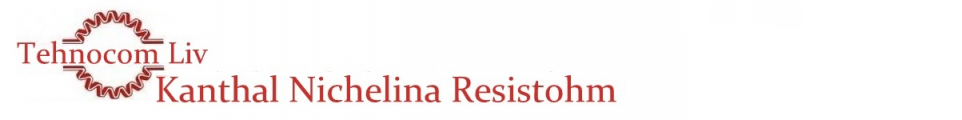 Bandă RESISTOHM - KANTHAL - NICHELINA - Platbandă rezistivă cu profil PLAT - Nichel-Crom (NIKROTHAL) -