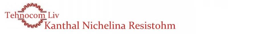 Bandă RESISTOHM din KANTHAL si NICHELINA - Platbandă rezistivă cu profil PLAT - Banda nichelina din Nichel Crom NIKROTHAL -