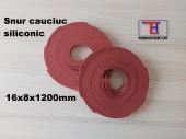 Profil cauciuc siliconic rosu cheder 16x8x1200mm